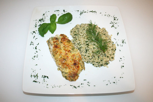 40 - Rotbarsch an Perlgraupenrisotto / Redfish with pearl barley risotto - Serviert | by JaBB