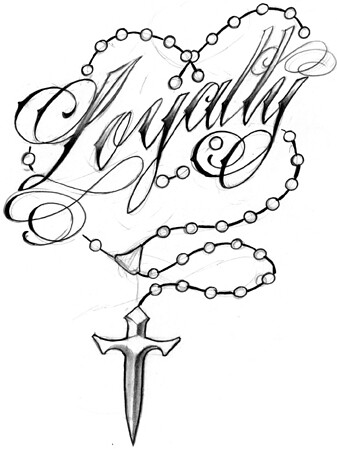 Loyalty Rosary Beads Tattoo Design Loyalty Rosary Beads Ta Flickr