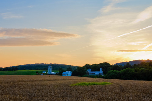sunset farm photoaday frederickmd topazadjust