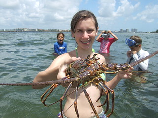 Julia with a Big lobster.