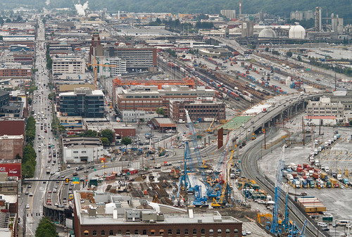 Viaduct replacement construction snapshot - July 20, 2012