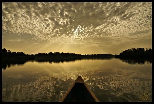 reflection clouds sunrise texas canoe bayou pasadena canoeing paddling armandbayou horsepenbayou wanam3