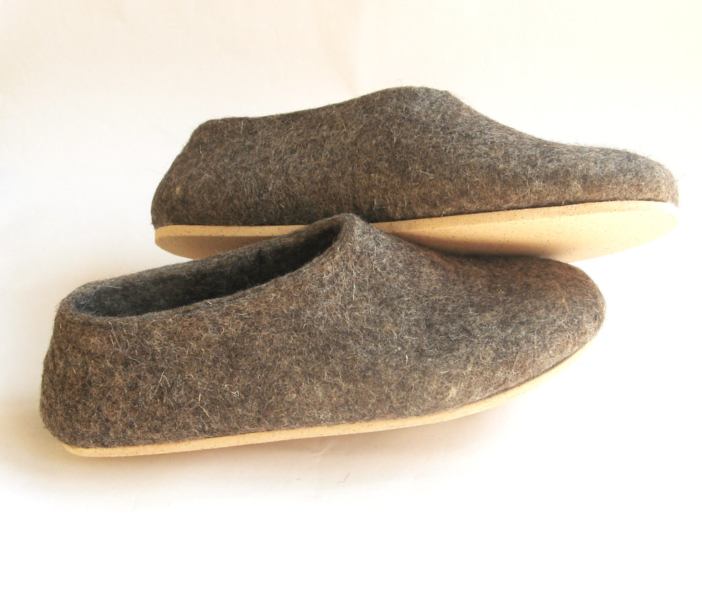 07417d2c860c0 cork sole felt wool shoes undyed natural eco friendly wool… | Flickr