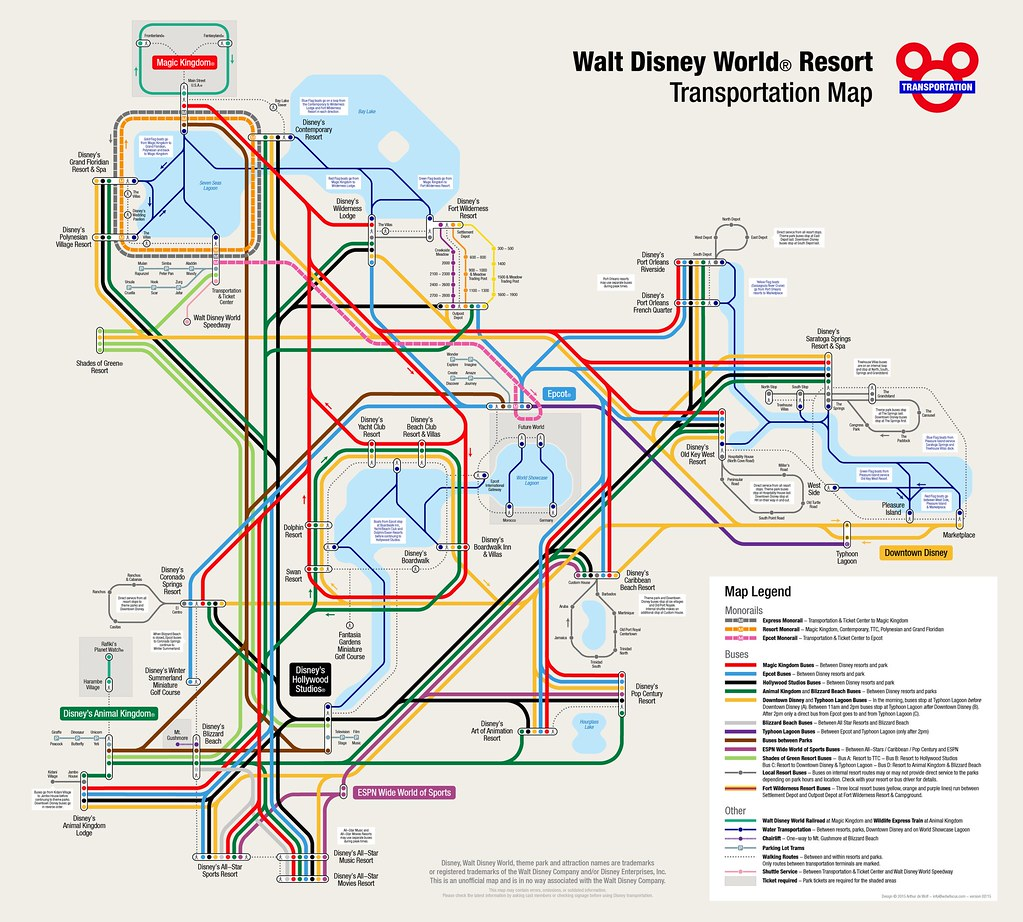 Walt Disney World Resort Map | More information: www.wdwfocu… | Flickr