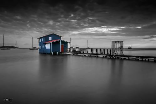 longexposure blue sunset red bw white house seascape color beach clouds landscape boats island twilight nikon puertorico playa nubes isla caborojo boqueron casaplaya nikon1224mmf4 seacscape nikond300s banearioboqueron