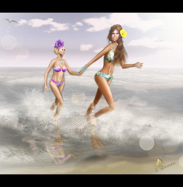 Bloomy & Lila at The Beach