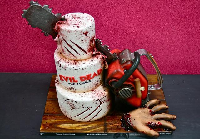 Evil Dead Chainsaw Cake