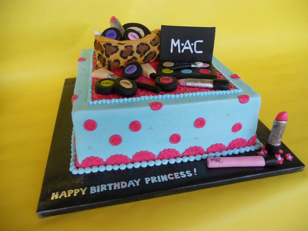 ... MAC Makeup Birthday cake | by CakesUniqueByAmy.com