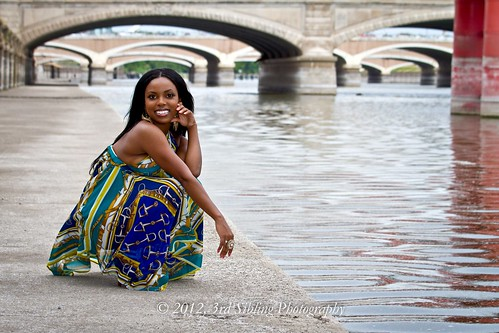 portrait woman black hot cute sexy girl beautiful smile canon landscape eos model eyes pretty dress legs young scenic bridges july posing cheesecake iowa ia 7d stunning heels africanamerican pinup 2012 desmoines waterscape desmoinesriver modelmayhem canon7d don3rdse ikonixstudio