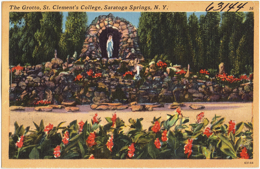 The Grotto, St. Clement's College, Saratoga Springs, N. Y