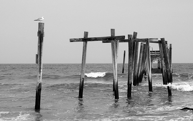 Old Pier and the Sea