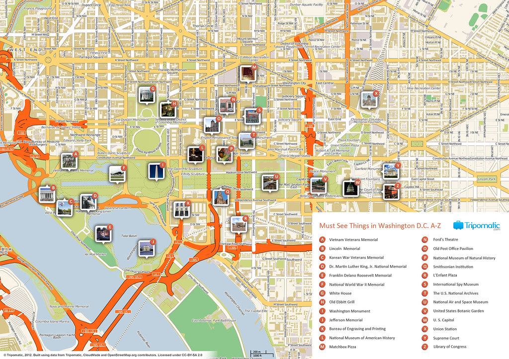 Washington DC printable tourist attractions map | Printable … | Flickr