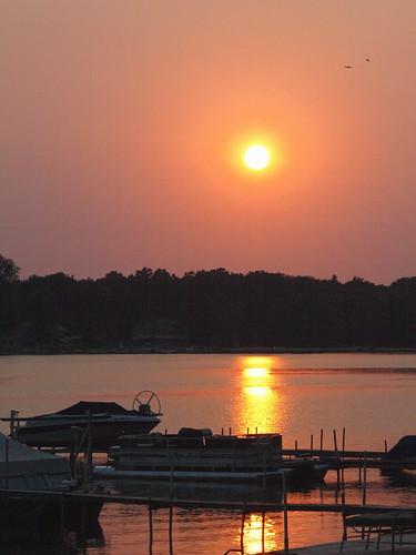 trees light sunset summer orange sun water mi docks boats golden westlake hour 2012 sooc