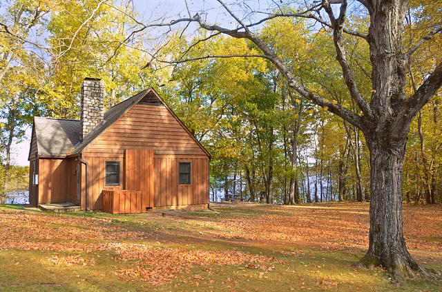 Cabin 1 fall-virginia state parks- staunton river state park
