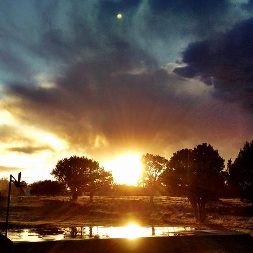 sunset weather clouds whitemountainlake