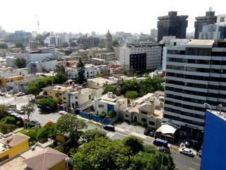 Lima Peru San Isidro Skyline | Part of the skyline of the fi