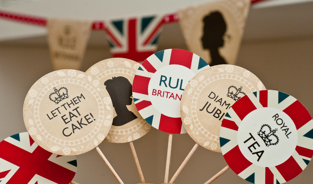 Printable Jubilee Cupcake Toppers British Party Decoration