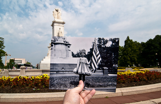 Looking Into the Past: Child As Liberty - Peace Monument, Washington, DC