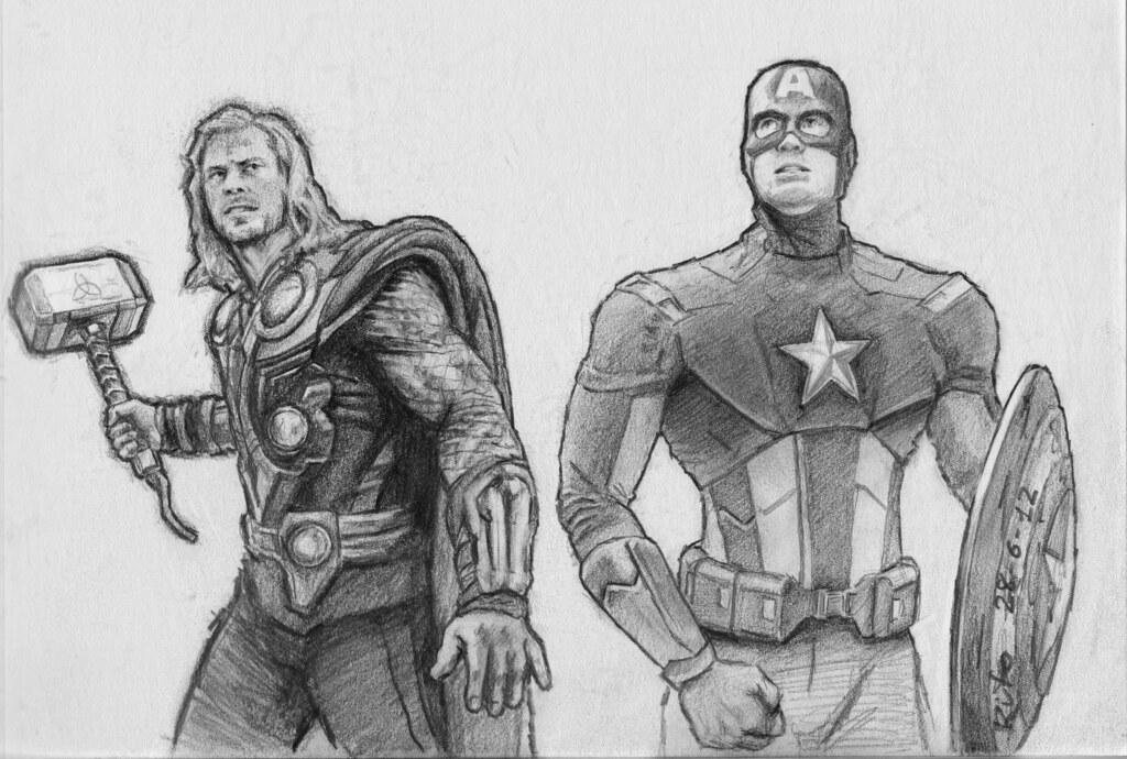 Avengers Thor Capt America Seguimos Avanzando Thor L Flickr