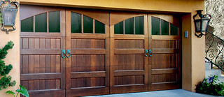 Wood Garage Door On Trac Garage Door Company Flickr