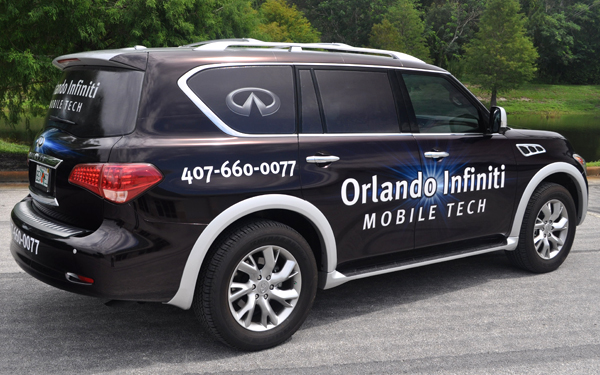 Infiniti vehicle wrap done by TechnoSigns