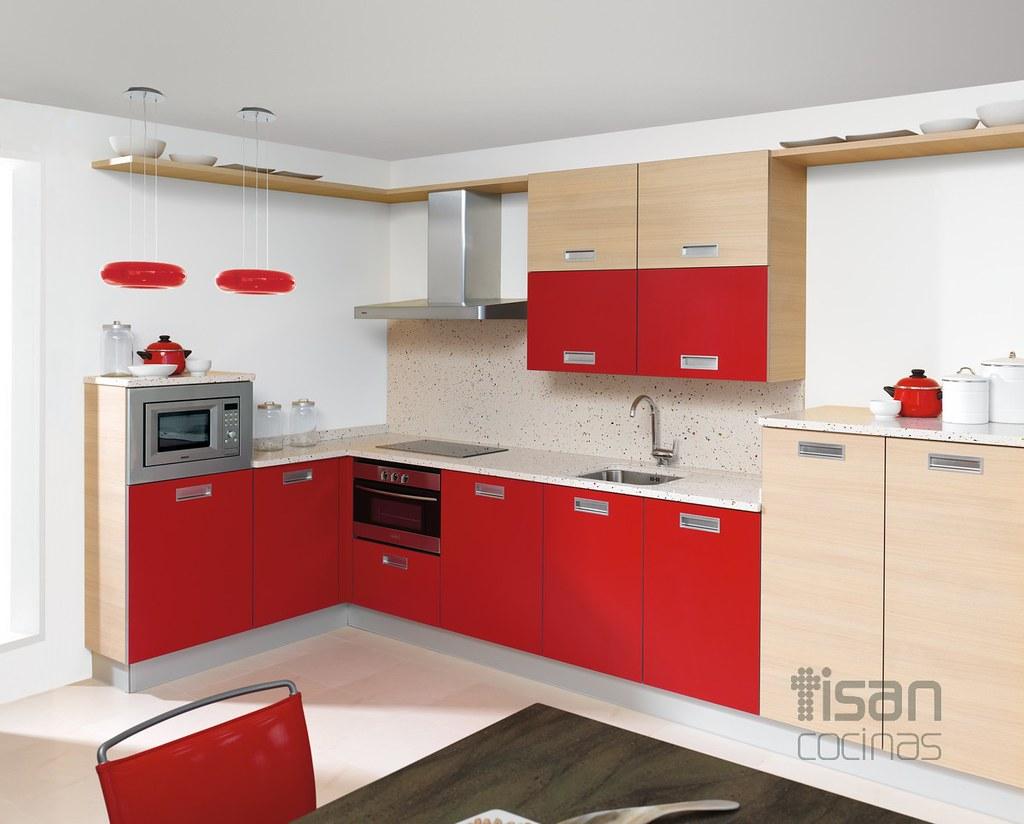 Cocina Moderna Rojo Seft Y Pamplona Tisan Cocinas Flickr