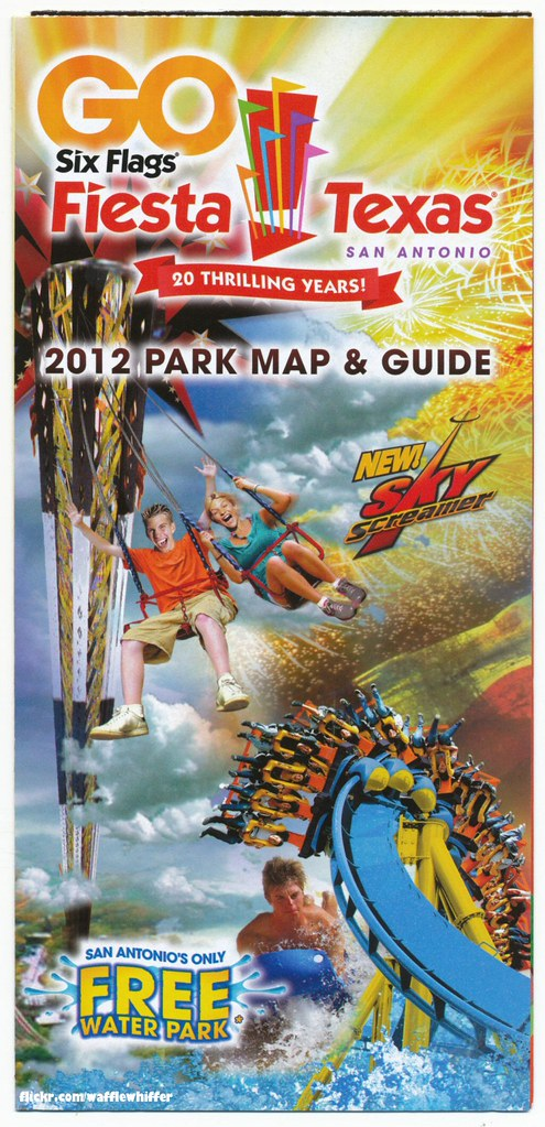 Six Flags Fiesta Texas - Park Map - 2012 | We had a fun time ... on doubletree anaheim map, six flags oklahoma city map, six flags santa clarita map, six flags kentucky map, six flags md schedule, california's great america map, six flags vallejo map, six flags california map, six flags ohio map, six flags chicago map, dallas six flags map, six flags mexico city map, six flags tennessee map, fiesta texas map, six flags eureka map, six flags new hampshire map, six flags tx, be live grand punta cana map, six flags saint louis map, six flags san ant,