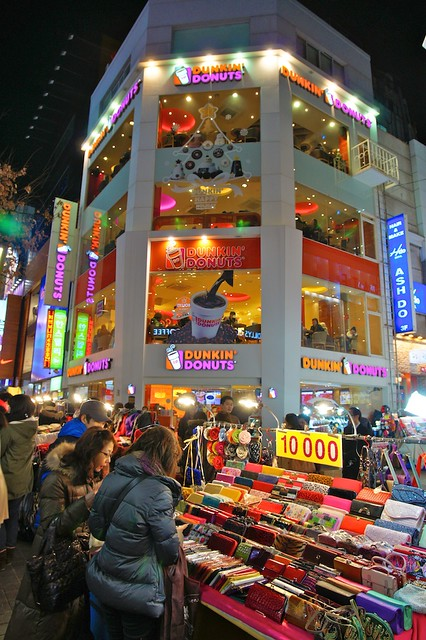 Dunkin' Donuts in Myeong-Dong, Seoul, South Korea