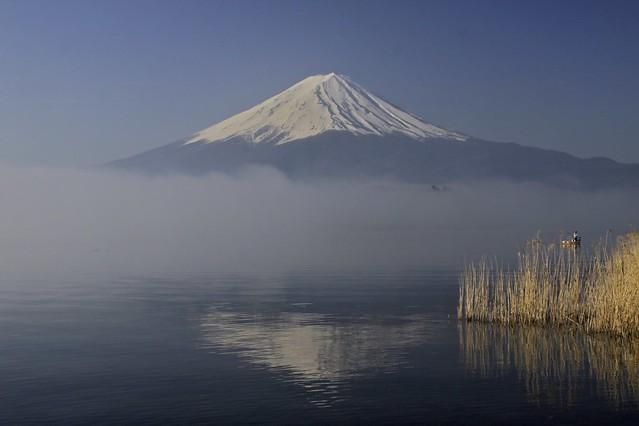 Mt. Fuji in fog