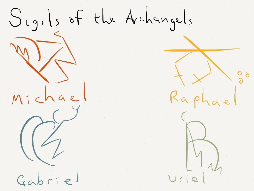 Seals for archangels | Made with Paper Well  They're not ent… | Flickr