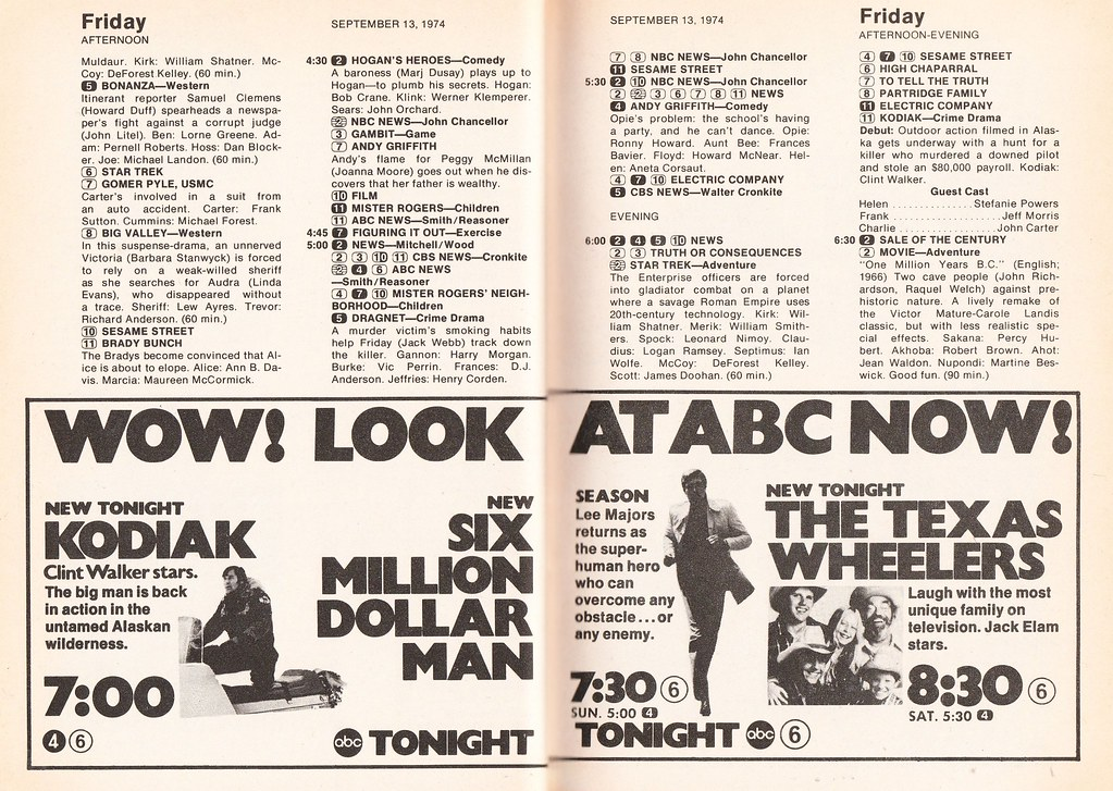TV Guide ad for ABC prime time with Six Million Dollar Man