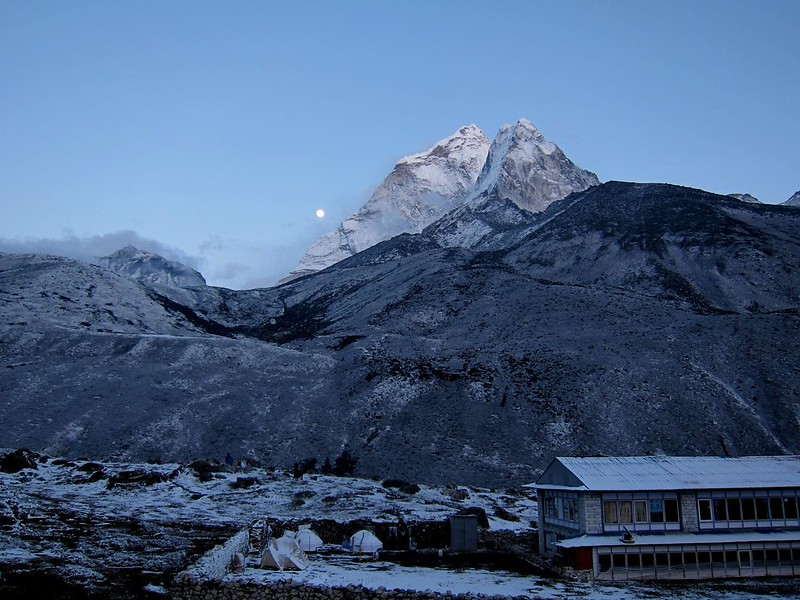 Moon over Ama Dablam