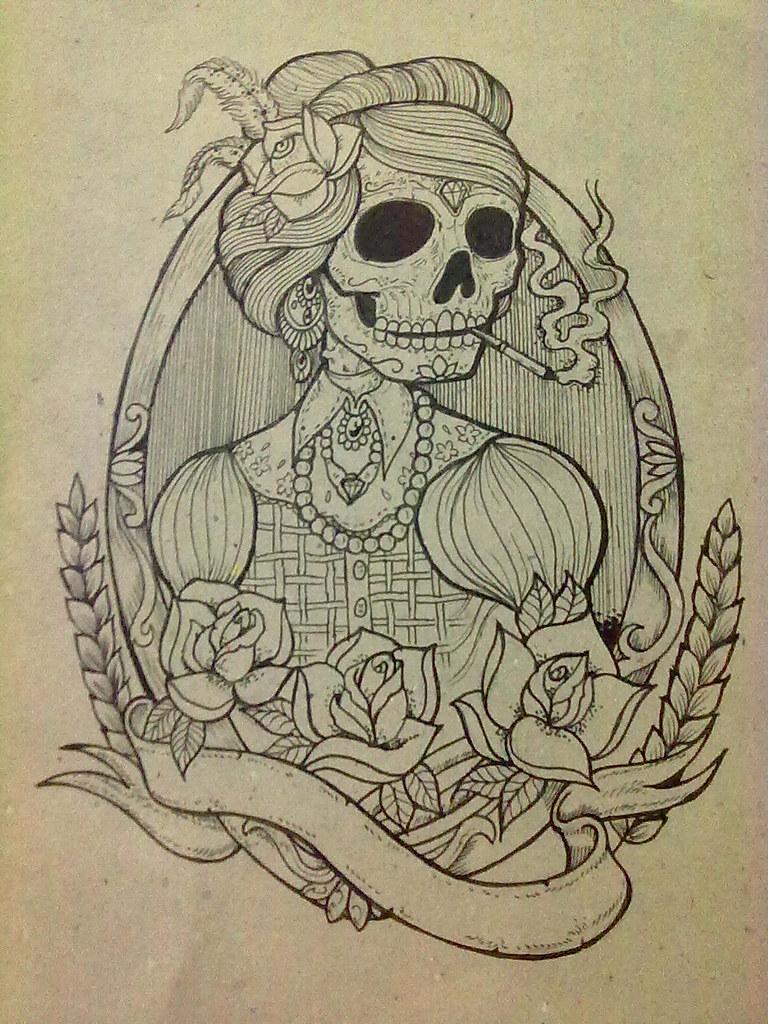 Desenho Caveira Artinpeli Desenho Artinpeli Tattoo Studio Flickr