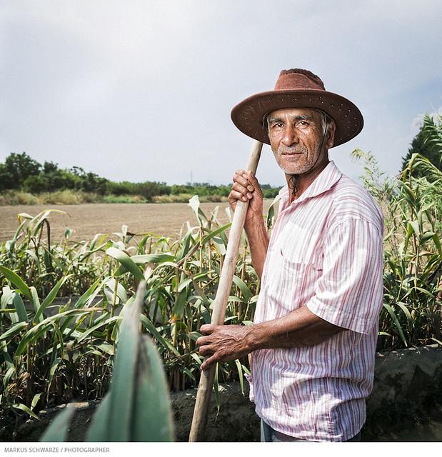 Portrait of a Turkish farmer