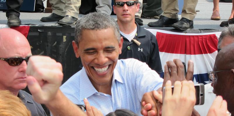 Obama at CMU - Barack Obama meeting supporters