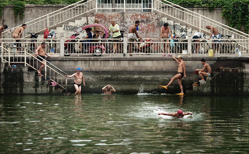 Old Men Swimming