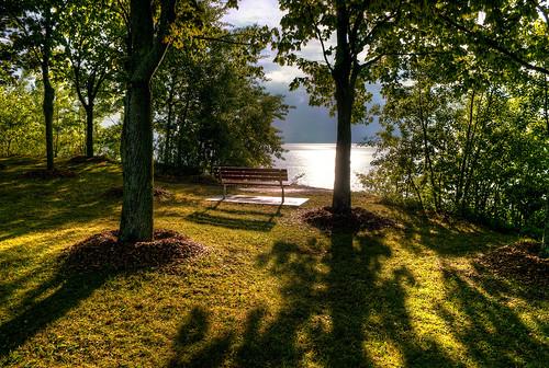 lake wisconsin sunrise bench shadows hdr portwashington photomatix 5exp d300s nikonafsdx1755mmf28g