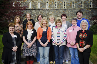 Students who study at Hafren School in Newtown,Powys, Prof
