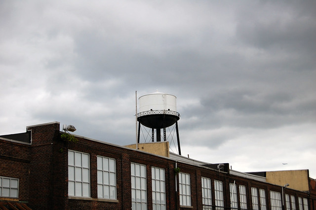 Water Tower on Old Warehouse