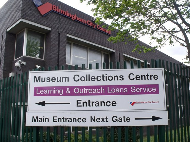Museum Collections Centre - 25 Dollman Street, Nechells - sign - Entrance
