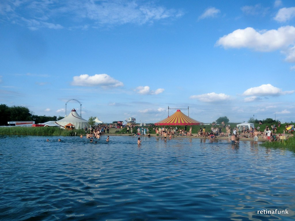 swimming pond at #Kinderspace / Circus area at Fusion Fest ...