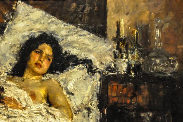 Antonio Mancini - Resting, 1887 at Art Institute of Chicago IL