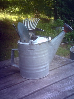 Garden Tools in Watering Can | by Patrice Beaulieu 12