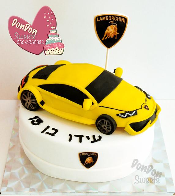 עוגת רכב למבורגיני