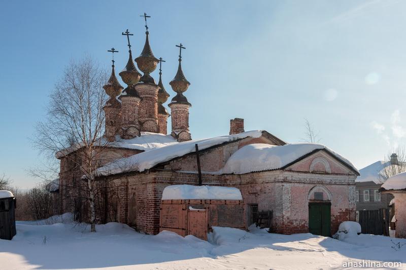 Церковь Богоявления Господня, Воскресенский монастырь,Солигалич