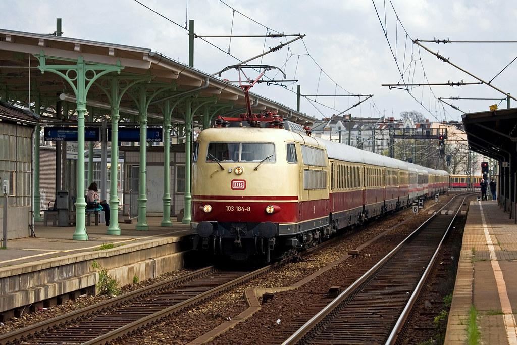Db 103 184 Sonderzug Tee 92303 Berlin Zoo München Hbf