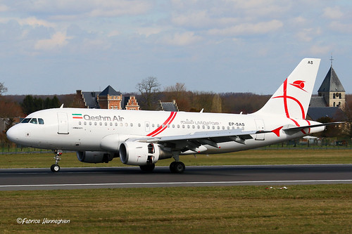EP-SAS Qeshm Airlines Airbus A319-111   by Planes , ships and trains!
