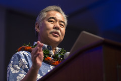 Gov. David Ige congratulated this yearʻs Distinguished Alumni on their accomplishments.