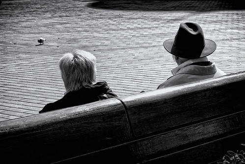 blackandwhite people outdoors men women hat females sitting rearview males adult oneperson nature monochrome lifestyles
