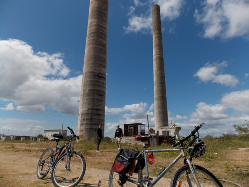 biking macabi holguin province cuba east smoke stack